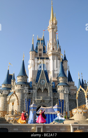 CELEBRATION AT WALT DISNEY WORLD - APRIL 12: Mickey Mouse at the Magic Kingdom Parade of Lights. Disney World in - Stock Photo