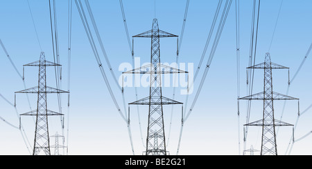 National Grid Electricity Pylons, Oxfordshire, United Kingdom. - Stock Photo