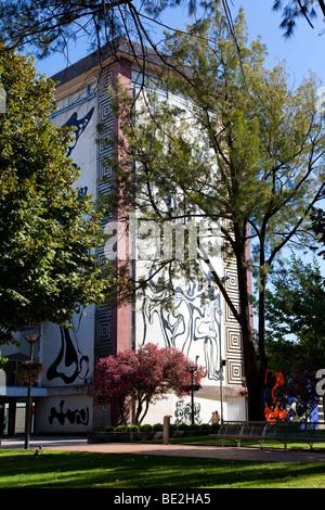 Cupertino de Miranda Foundation Building in Queen Dona Maria II Square. Vila Nova de Famalicão, Braga District, - Stock Photo