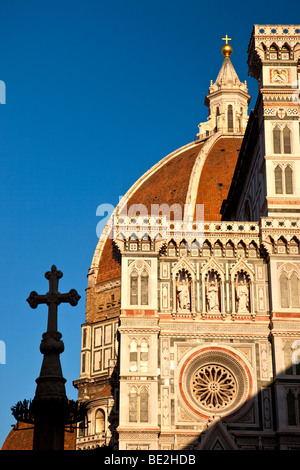 Evening at the Duomo in Florence, Tuscany Italy - Stock Photo