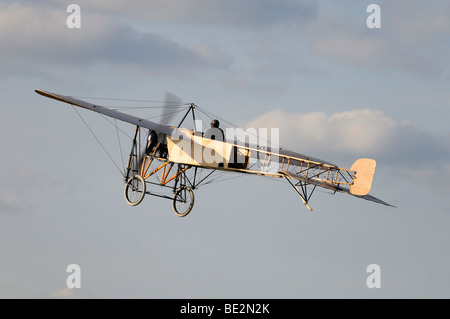 Replica of the legendary Bleriot XI La Manche, Europe's largest meeting of vintage planes at Hahnweide, Kirchheim - Stock Photo