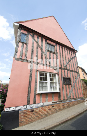 Market Lane Lavenham Suffolk UK - Stock Photo