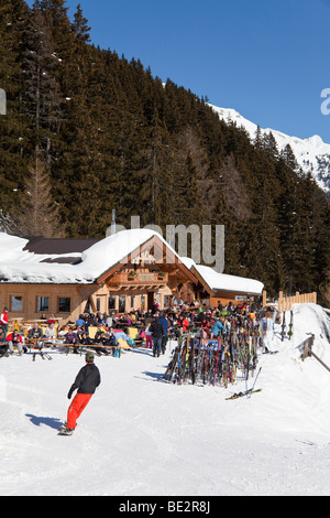 Europe, Austria, Tirol. St. Anton am Arlberg, - Stock Photo