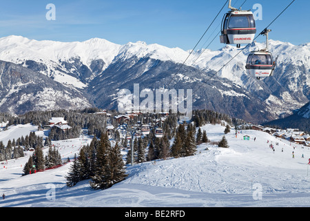 Courchevel 1850 ski resort in the Three Valleys, Les Trois Vallees, Savoie, French Alps, France - Stock Photo