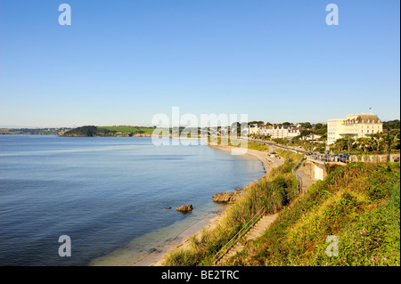 Overlooking the Bay of Falmouth, Cornwall, England, UK, Europe - Stock Photo