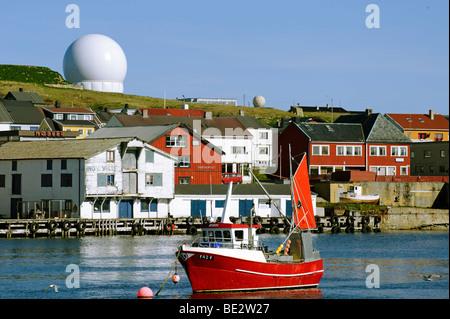 Radar station Globus II for tracking space debris, Vardo, Vardoe, Norway, Scandinavia, Europe - Stock Photo