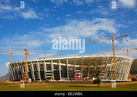Soccer World Championship 2010, Green Point Soccer Stadium under construction, Cape Town, South Africa - Stock Photo