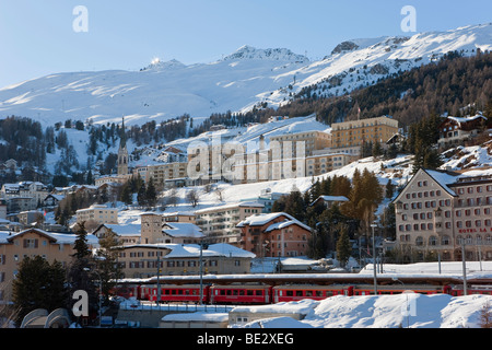 St. Moritz, Upper Engadine, Oberengadin, Graubunden region, Swiss Alps, Switzerland, Europe - Stock Photo