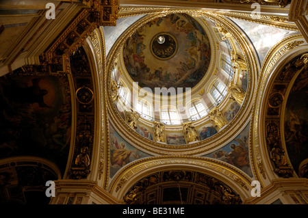 Dome of St. Isaac's Cathedral, Saint Petersburg, Russia, Europe - Stock Photo
