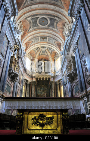Interior of the Basilica Se Catedral de Nossa Senhora da Assuncao cathedral, Evora, UNESCO World Heritage Site, - Stock Photo