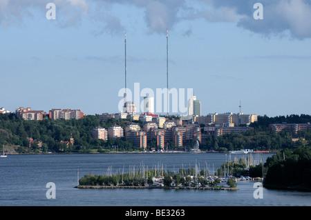 Archipelago with islands, Stockholm, Sweden, Europe - Stock Photo