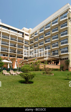 The exterior of the Hotel des Mille Collines in Kigali, Rwanda. It is the setting of the movie Hotel Rwanda. - Stock Photo