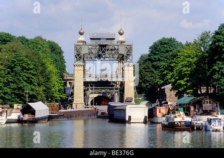 Historic boat lifts Henrichenburg, LWL Industrial Museum, Waltrop-Oberwiese, Ruhr area, North Rhine-Westphalia, - Stock Photo