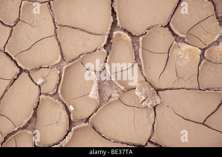 River bed after a long drought, detail - Stock Photo