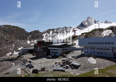 Alpine Center at Kitzsteinhorn, Kaprun, Hohe Tauern, federal state of Salzburg, Austria, Europe - Stock Photo