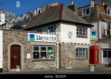 the small Lloyds TSB bank at st,mawes in cornwall, uk - Stock Photo