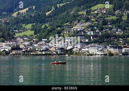 Lake Zeller, Zell am See, Pinzgau, federal state of Salzburg, Austria, Europe - Stock Photo
