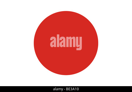 Japanese flag illustration - Stock Photo