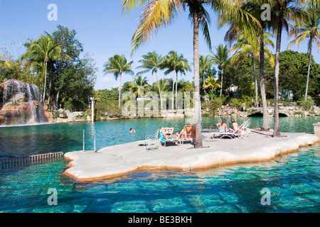 Swimming pool, Venetian Pools in Coral Gables, Miami, Florida, USA - Stock Photo
