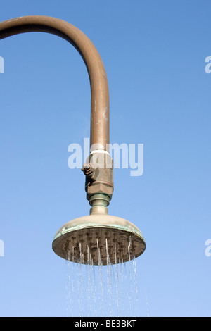 Shower head with water - Stock Photo