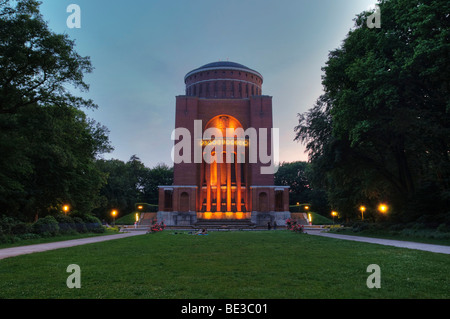 Hamburg Planetarium at dusk, Hamburg Stadtpark, public park, Hamburg, Germany, Europe - Stock Photo