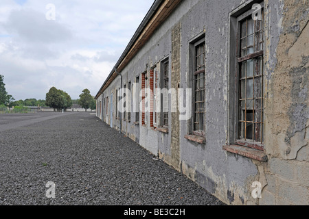 Exterior view of a work barrack at the women's concentration camp Ravensbrueck, Brandenburg, Germany, Europe - Stock Photo
