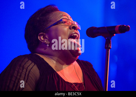 Jocelyn Brown of the British band The Allstars feat. Jocelyn Brown Live at the Blue Balls Festival in the Luzernersaal - Stock Photo