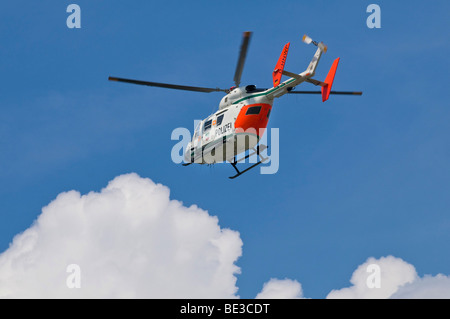 Police helicopter North Rhine-Westphalia, Eurocopter / BK 117-C1 - Stock Photo