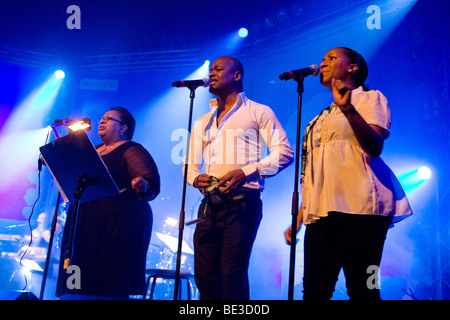 The British band The Allstars feat. Jocelyn Brown Live at the Blue Balls Festival in the Luzernersaal hall of the - Stock Photo