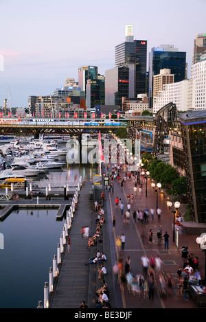 Cockle Bay Wharf at Darling Harbour. Sydney, New South Wales, AUSTRALIA - Stock Photo