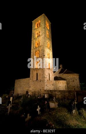 Sant Climent de Taüll church. Taull, Lleida, Spain. - Stock Photo