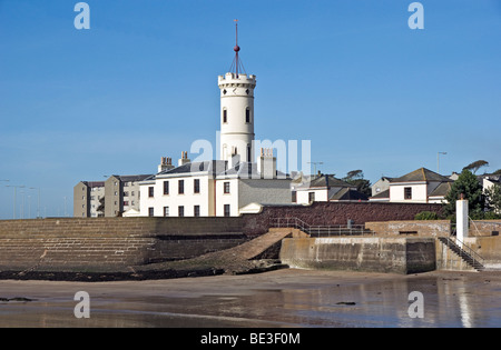 The Signal Tower Museum in Arbroath Harbour Scotland - Stock Photo