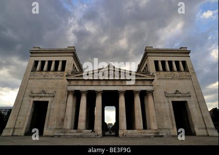 Propylaea museum on Koenigsplatz square in Munich, Bavaria, Germany, Europe - Stock Photo