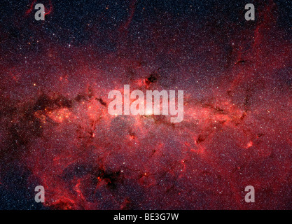 The center of the Milky Way Galaxy. - Stock Photo