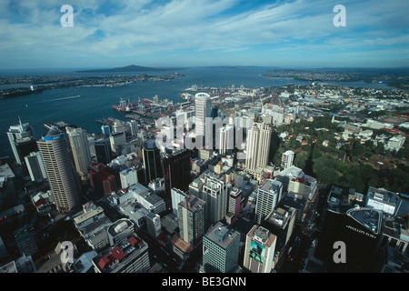 New Zealand - North Island - Auckland Centre - View of the Sky Tower - Stock Photo