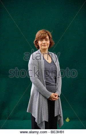 Nada Awar Jarrar, Lebanese novelist author and writer of the book Dreams of Water at The Edinburgh International - Stock Photo