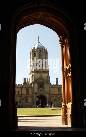 'Tom Tower', Christ Church College, Oxford University, England, UK - Stock Photo