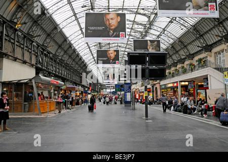Gare de l'Est, interior view of the East Railway Station, Paris, France, Europe - Stock Photo