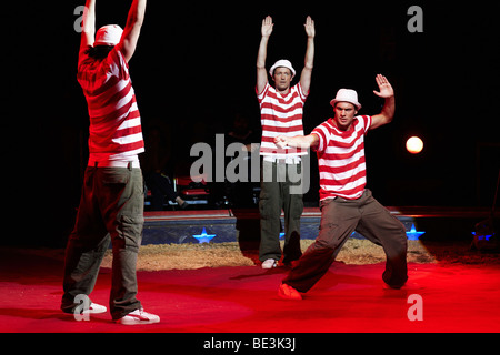 Starbug, comedians, show of the circus Knie with its 2009 program 'c'est magique' in the Rosental-Anlage venue in - Stock Photo