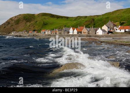 Crovie fishing village on the north coast of Scotland, Scotland, UK, Europe - Stock Photo