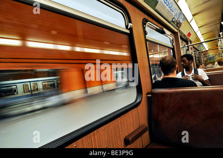 Subway train, Munich, Bavaria, Germany, Europe - Stock Photo