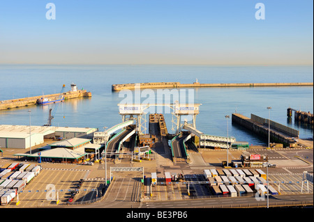 View of the Eastern Docks at the ferry port of Dover, Kent, England, UK, Europe - Stock Photo