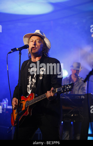 Wolfgang Niedecken, BAP, Cologne rock band, open air concert, Muehldorf am Inn, Bavaria, Germany - Stock Photo
