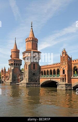 Oberbaumbruecke Bridge in Berlin, Germany, Europe - Stock Photo