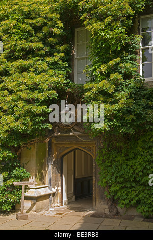 Oxford University, Lincoln College Gardens, Cotswolds, England, July, 2009 - Stock Photo