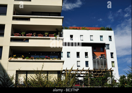 Paris, France, 'Green Neighborhood' 'Clichy Batignolles' Real Estate, housing, Architectural Detail, global green - Stock Photo