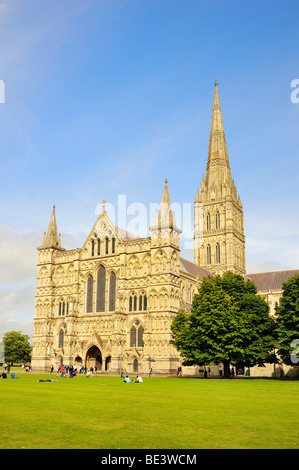 St. Mary's Cathedral in Salisbury, Wiltshire, England, United Kingdom, Europe - Stock Photo