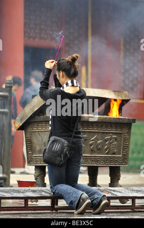 A scene from Lama Temple Yong He Gong - Stock Photo