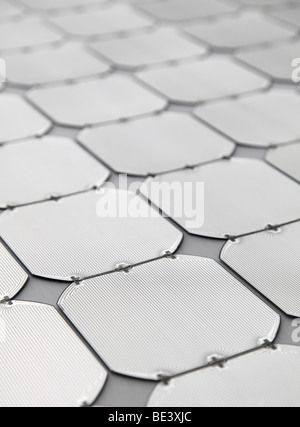 Solon SE: production of solar panels. Electric circuits on solar cells, BERLIN, GERMANY - Stock Photo