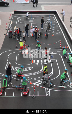 63th International Motor Show ( IAA ): Children are learning traffic rules - Stock Photo